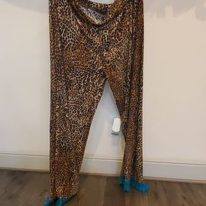 Crazy train leopard print pants